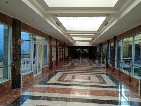 Mediterranean Azur Hotel:                   Clean and spacious corridor to rooms.. a little gaudy though