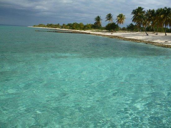 Hotel Maria La Gorda: Playa tranquila