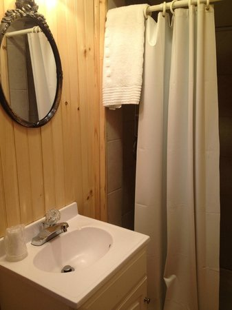 Pemi Cabins:                   Adorable bathroom