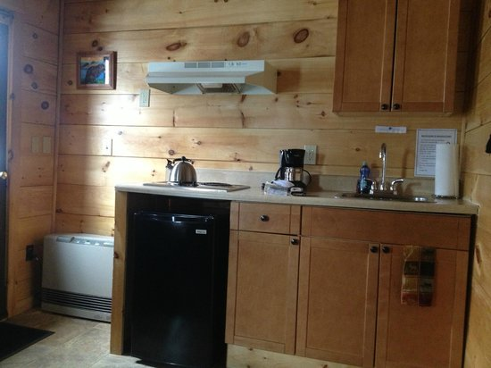 Pemi Cabins:                   Perfect amount of room for cooking