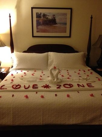 Beaches Negril Resort & Spa:                   A surprise from our Butler Novia!