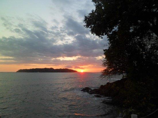 Cabanas Las Palmeras:                   Sonnenuntergang