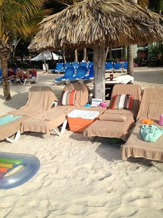 Beaches Negril Resort & Spa:                   Set up on beautiful Negril beach, even a cooler of drinks and sand toys for th