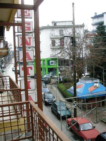 Egnatia Hotel:                   Street