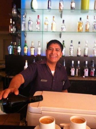 Ocean Maya Royale:                   Ignacio making us expresso