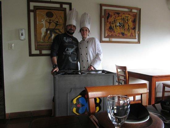 La Guarida Hotel:                   En el comedor