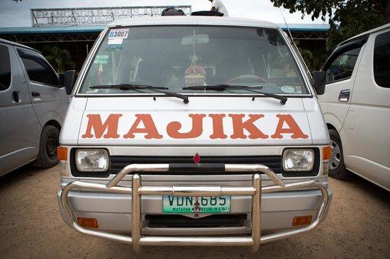 Majika's Island Resort:                   Majika Van at Busuanga Airport                 