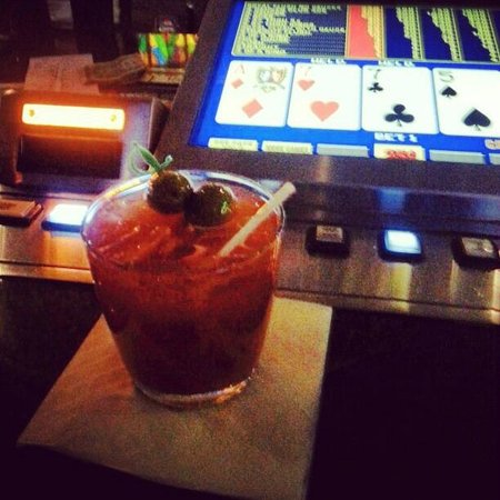 Seneca Niagara Casino :                   free bloody mary's while playing at the bar!