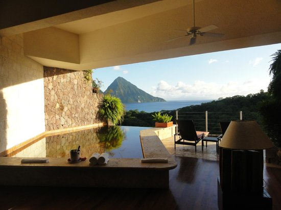 Jade Mountain Resort: vista desde nuestro Sanctuary