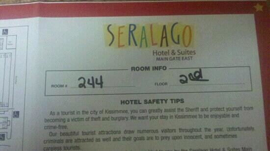 Seralago Hotel and Suites:                   room info