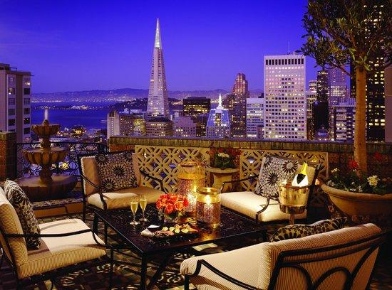 Fairmont San Francisco: Penthouse Suite Balcony at Night