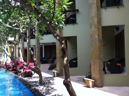 All Seasons Legian Bali:                   Try for ground floor room for easy access to pool