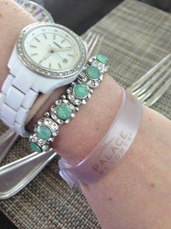 Sun Palace:                   concierge bracelet