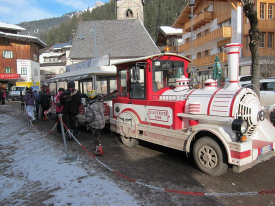Hotel Bellevue:                   The ski shuttle train that stops right outside the door of the Bellevue