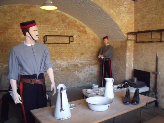 Landguard Fort:                   Soldiers room.