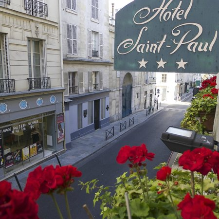Hotel Saint Paul Rive Gauche:                                     view from our room