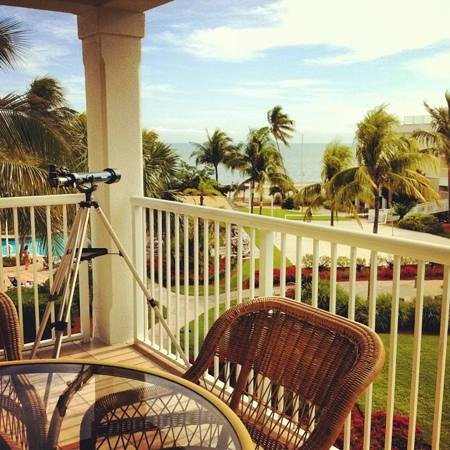 Hyatt Windward Pointe:                   telescope in room!!