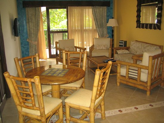Tranquility Bay Antigua:                   Dining area and living room