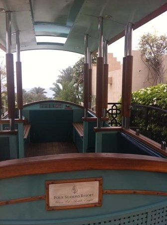 Four Seasons Resort Sharm El Sheikh:                   Tram to the pool and beach ...