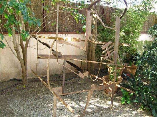 Can Prunera Museum of Modernism:                   Sculpture in rear garden