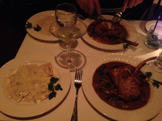 Il Mulino - Miami:                   Veal chop with a side of tortellini! Simply amazing.