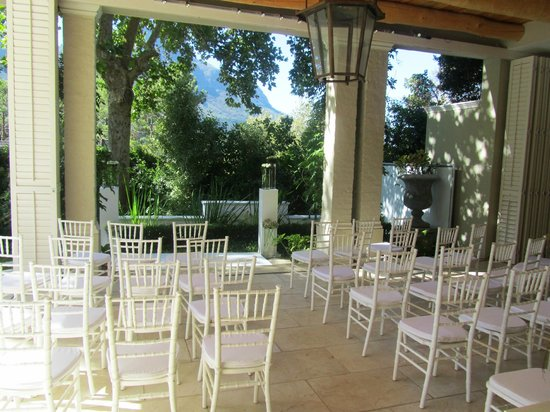 Chez Nous :                                     Outdoor sitting area, turned into our ceremony area