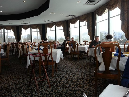 White Mountain Hotel and Resort:                                     This is the dining room with a pretty view!