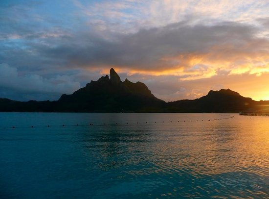 The St. Regis Bora Bora Resort: View from our deck. Amazing!