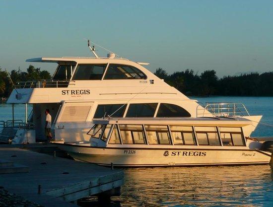 The St. Regis Bora Bora Resort: The boat transporation