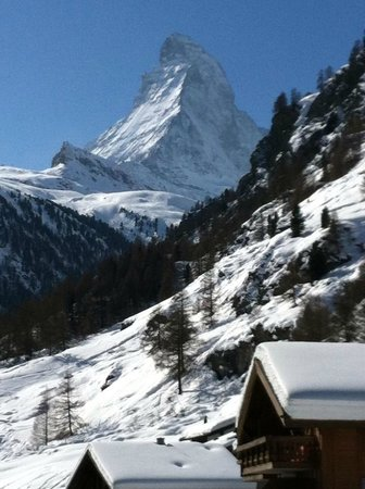 view from family room at Hotel Alpenrose