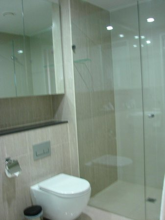 Meriton Serviced Apartments Campbell Street:                   big shower