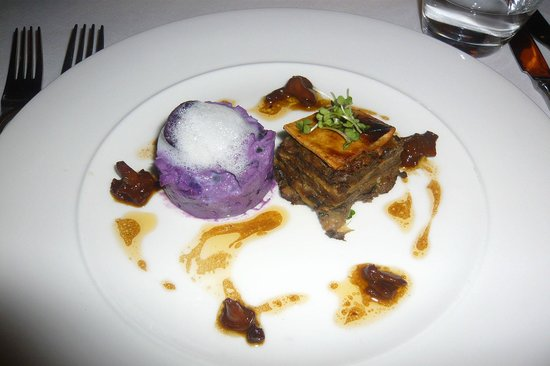 Conor's Bar:                   Starter Wild Mushroom With Purple Potato Salad & Girolle Dressing