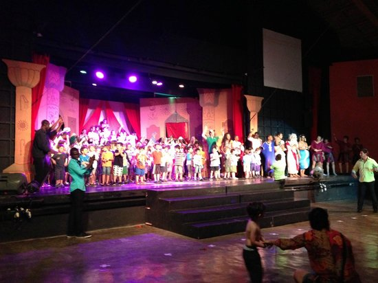Club Med Punta Cana:                   Theater with kids onstage