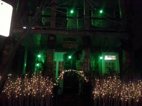 Rathbone Mansions:                   I took this photo the night we arrived. Beautiful!
