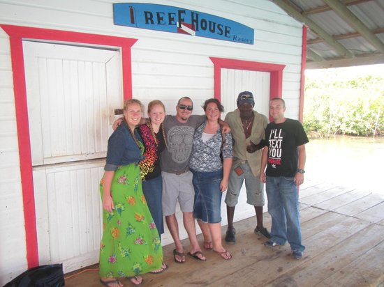 Reef House Resort:                                     From left to right: my two girlfriends, David, myself, Bee (