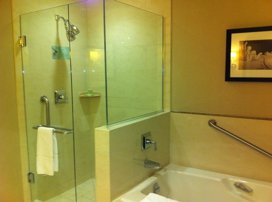 Westin Riverfront Resort & Spa:                   Shower and tub