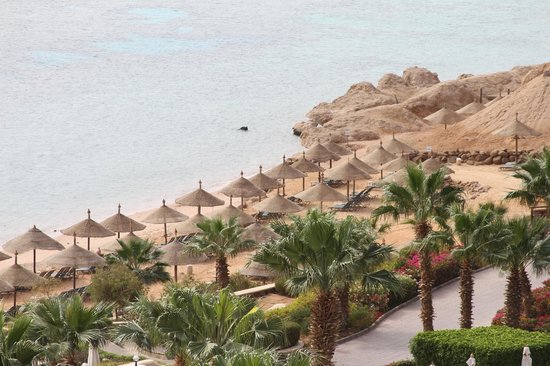 Hyatt Regency Sharm El Sheikh Resort:                                     view of the beach