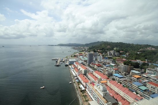 Four Points by Sheraton Sandakan: View from room window 22th floor.