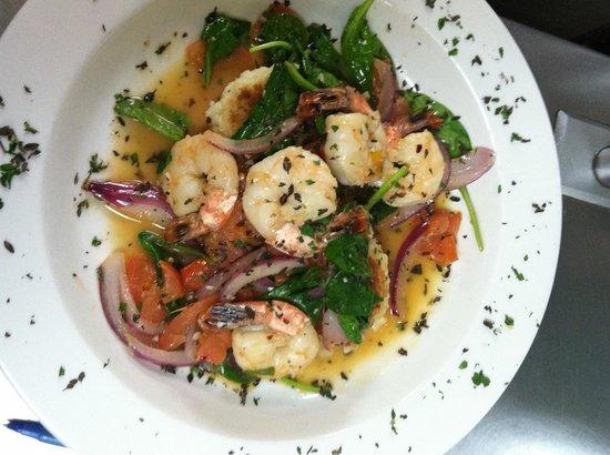 Sail Away Cafe and Bar :                   Shrimp zelnina special