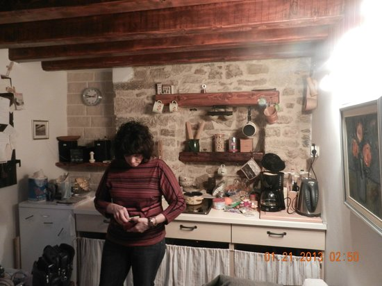 Salvezani Apartment:                                     My wife Geri in the kitchen