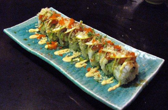 Tiga Sushi Bar & Japanese Restaurant:                   Halibut Roll