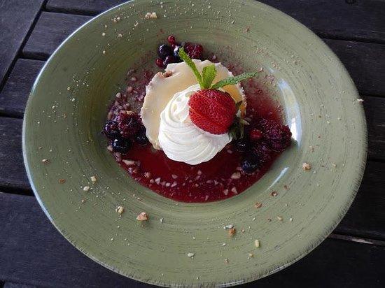 Cafe Y:                   Refreshing lemon dessert with freshly picked berries