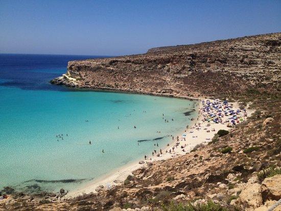 Isola dei Conigli:                   Spiaggia dei Conigli, Lampedusa