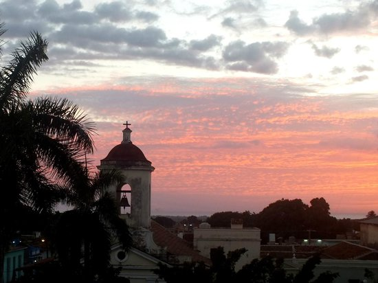 Iberostar Grand Trinidad: Sunset view from our window