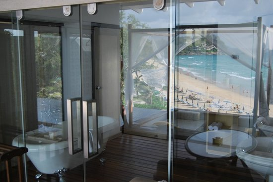 The Shore at Katathani: view from outside your villa into your bathroom