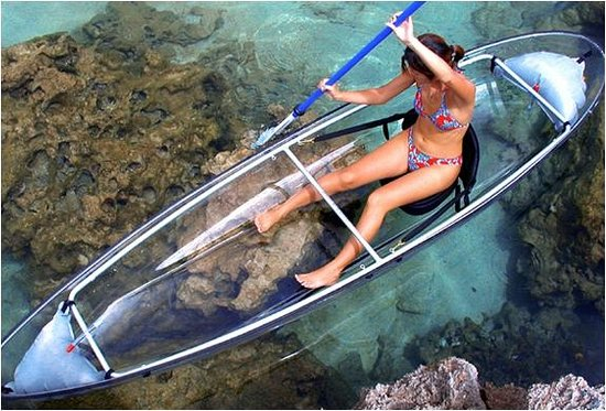 Two Seasons Coron Island Resort & Spa: Molokini transparent kayak