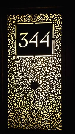 La Mamounia Marrakech:                   If this is your room number, just think about how opulent the room will be!
