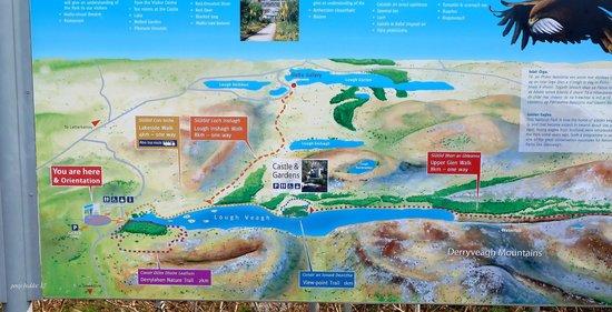 Glenveagh Castle:                   park map