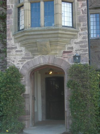Bodysgallen Hall & Spa :                   the front entrace