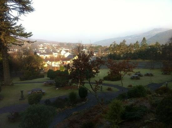 The Royal Victoria Hotel Snowdonia:                   view from breakfast conservatory